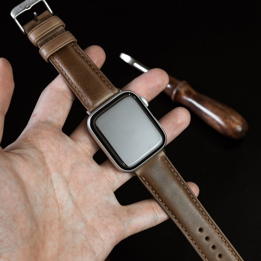 N2W Classic Horween Leather Strap in Chromexcel® Tan (42 & 44mm) - Nomad Watch Works Malaysia