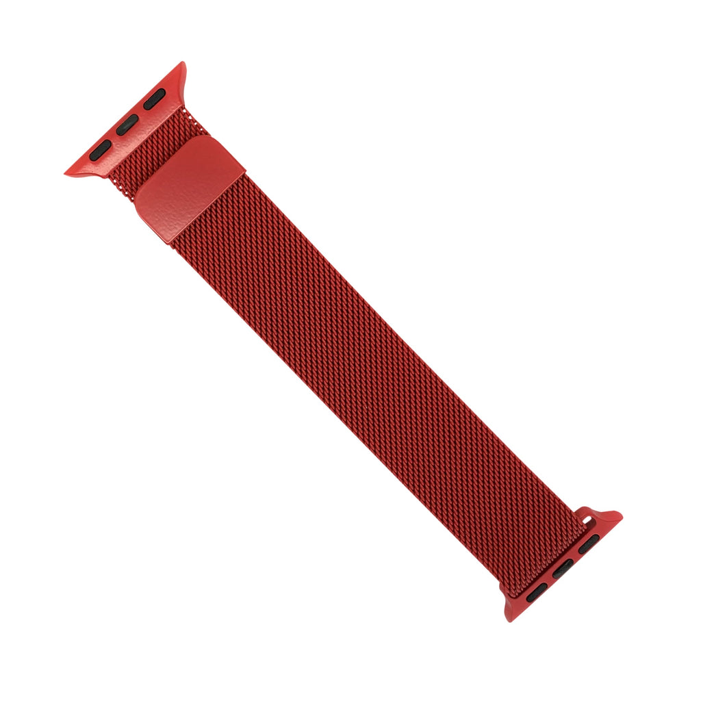 Apple Watch Milanese Mesh Strap in Red (38 & 40mm) - Nomad Watch Works Malaysia