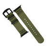 Apple Watch Seat Belt Nato Strap in Olive with Black Buckle (42 & 44mm) - Nomad Watch Works Malaysia
