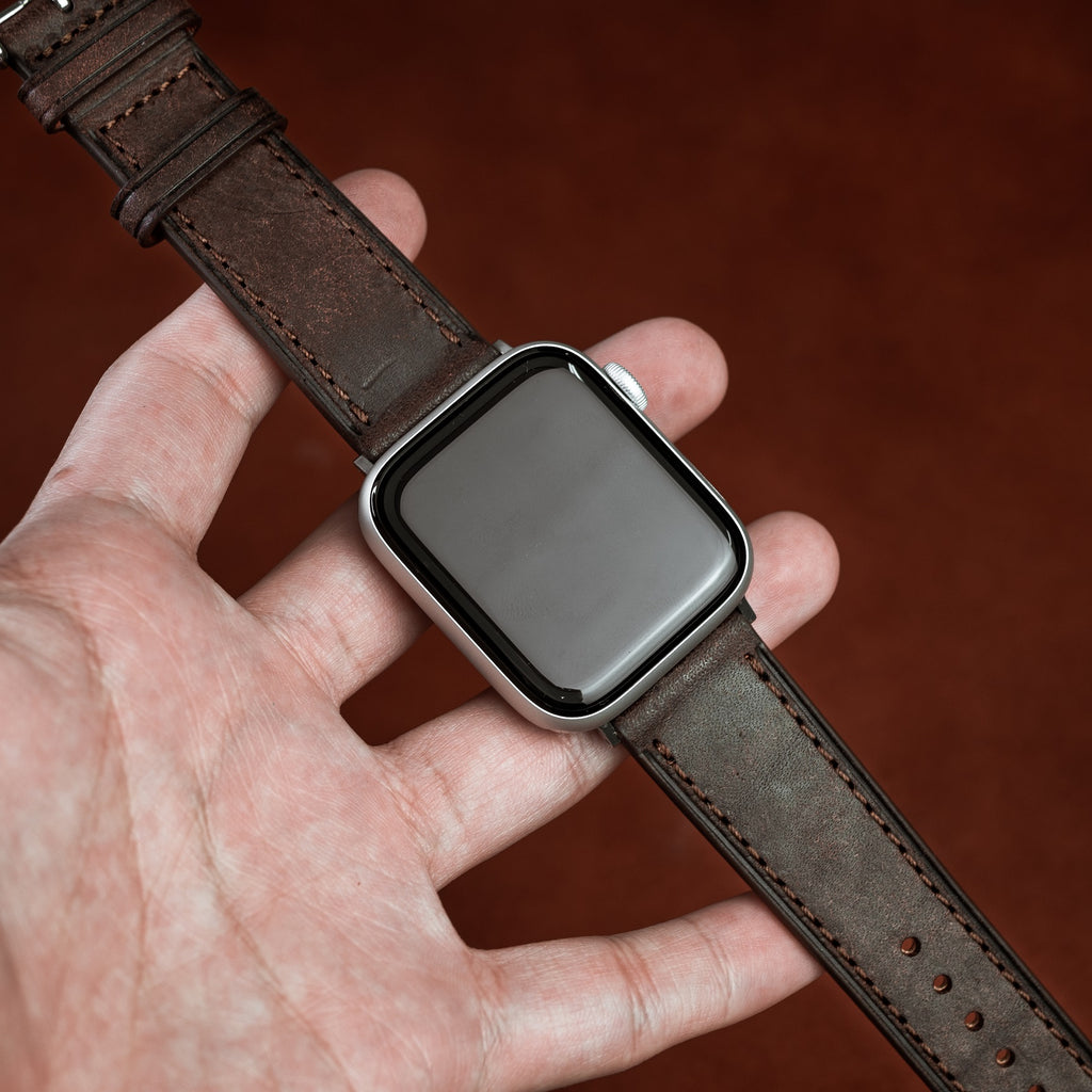 Emery Signature Pueblo Leather Strap in Brown (42 & 44mm) - Nomad Watch Works Malaysia
