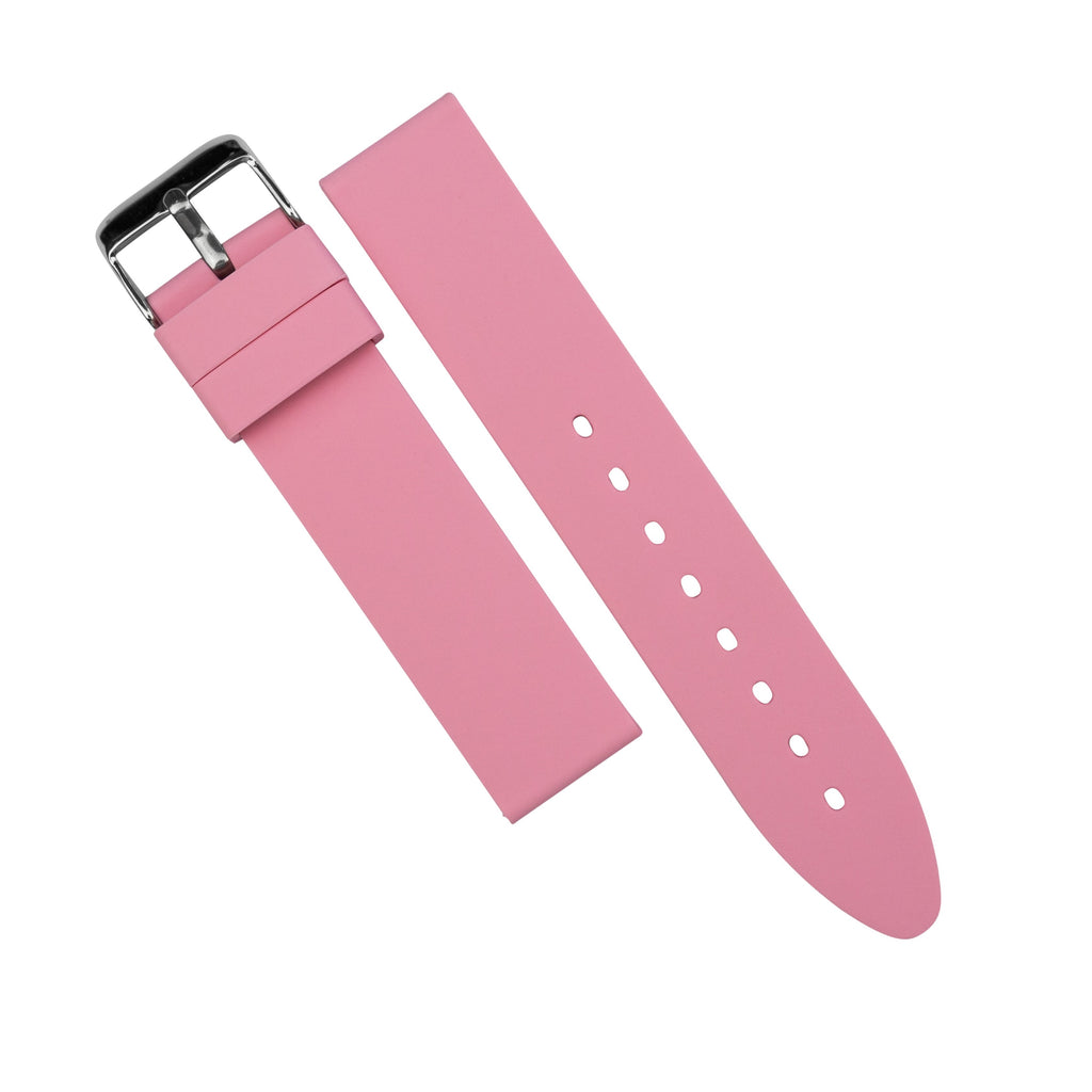 Basic Rubber Strap in Pink (20mm) - Nomad Watch Works MY