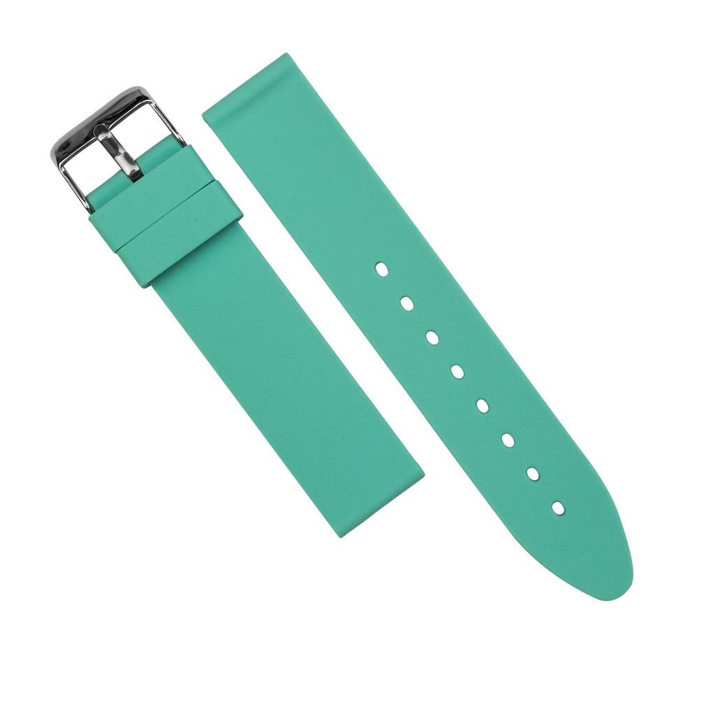 Basic Rubber Strap in Turquoise (18mm) - Nomad Watch Works MY