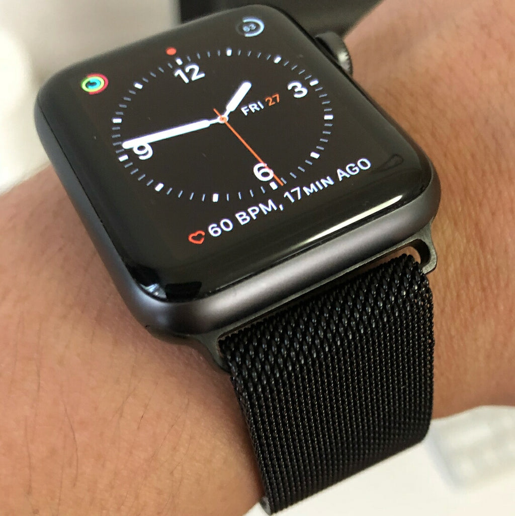 Apple Watch Milanese Mesh Strap in Black (42 & 44mm) - Nomad Watch Works Malaysia