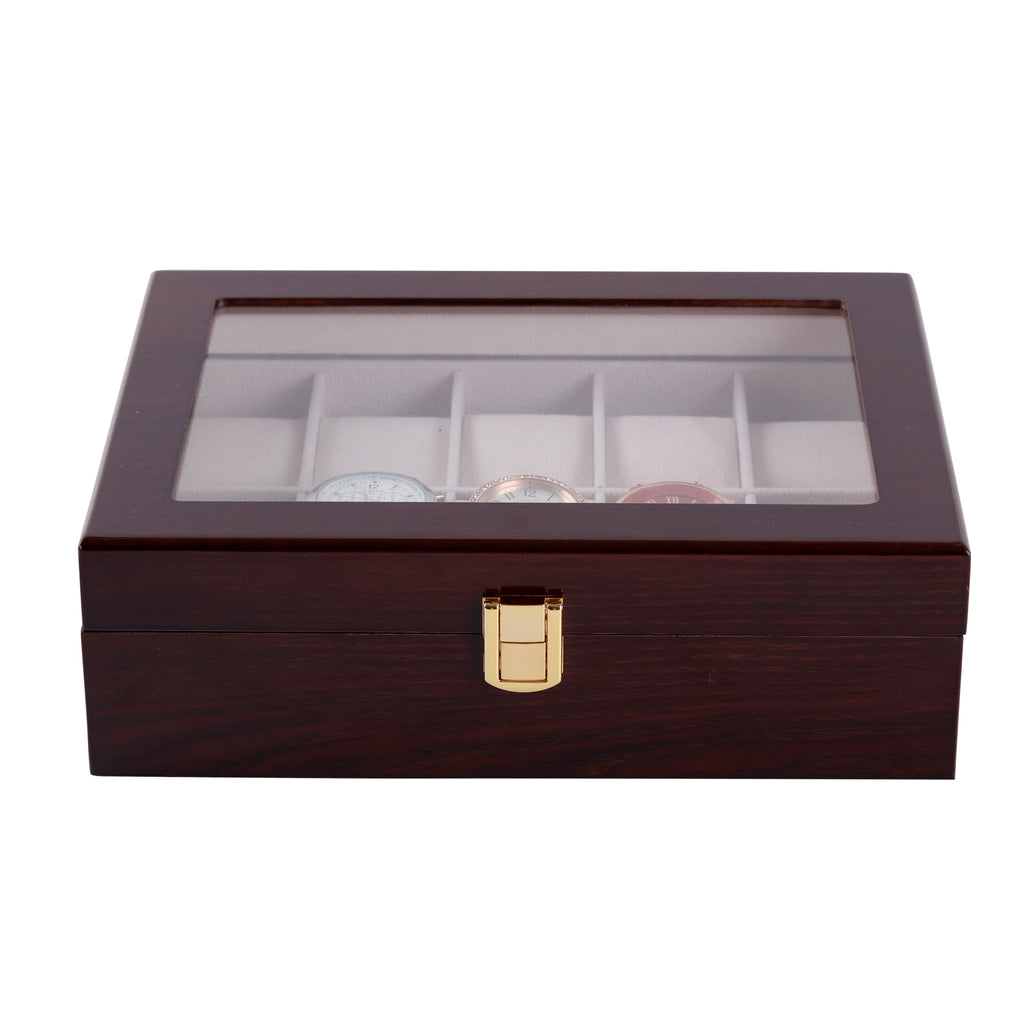 Wooden Watch Box in Brown (10 Watch Slots) - Nomad Watch Works Malaysia
