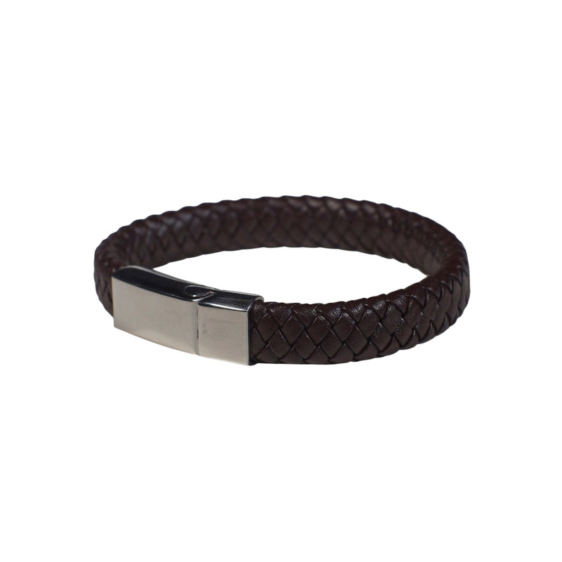 Chester Leather Bracelet in Brown (Size M) - Nomad Watch Works Malaysia