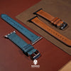 Emery Signature Pueblo Leather Strap in Cognac (42 & 44mm) - Nomad Watch Works Malaysia