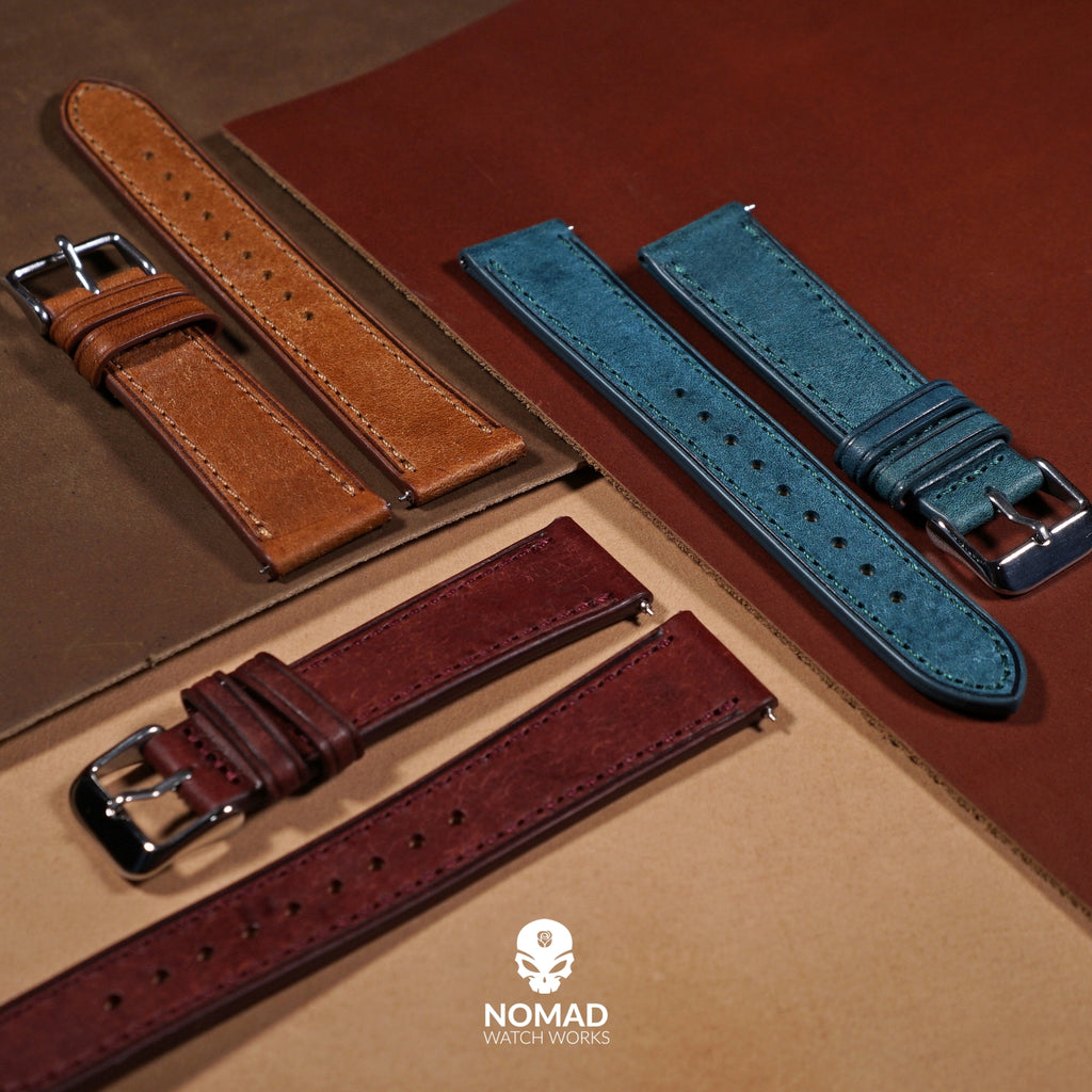 Emery Signature Pueblo Leather Strap in Bordeuax (18mm)