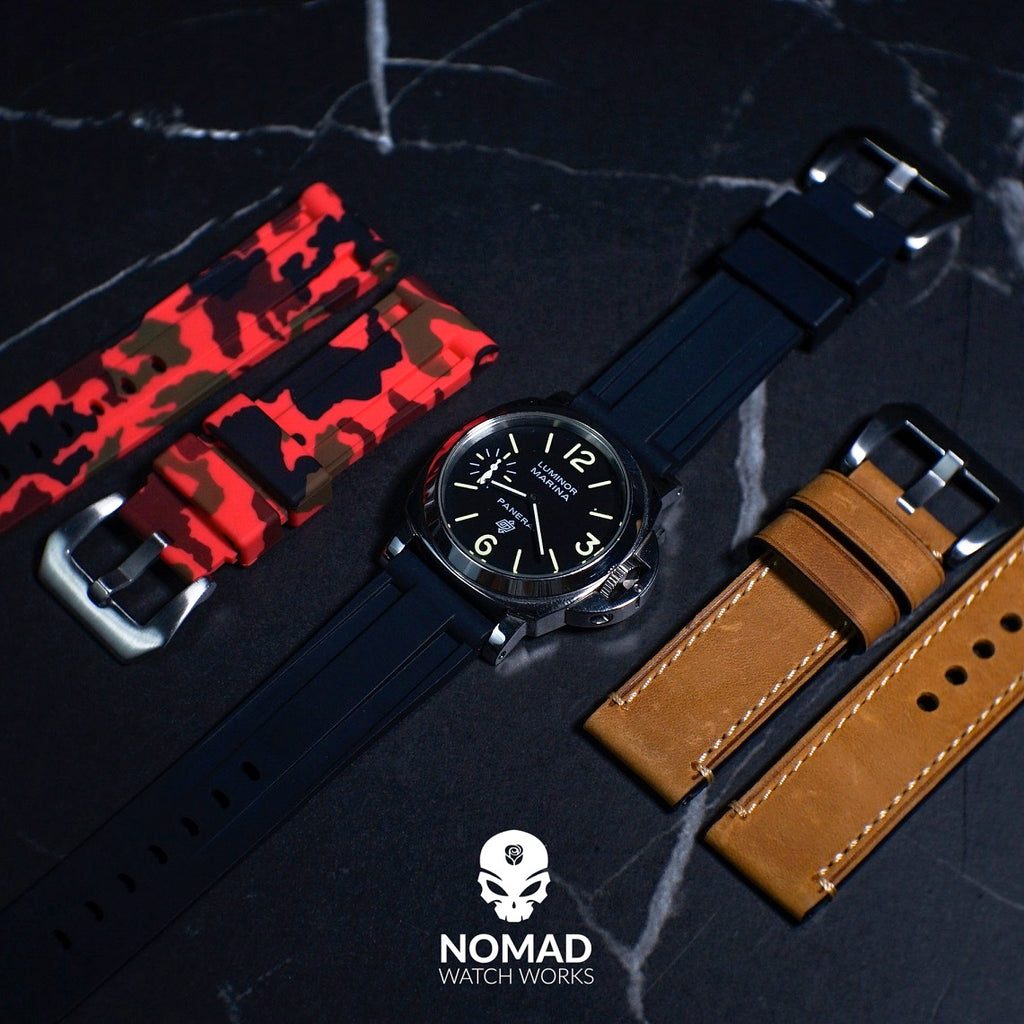 V3 Silicone Strap in Black (22mm) - Nomad Watch Works Malaysia