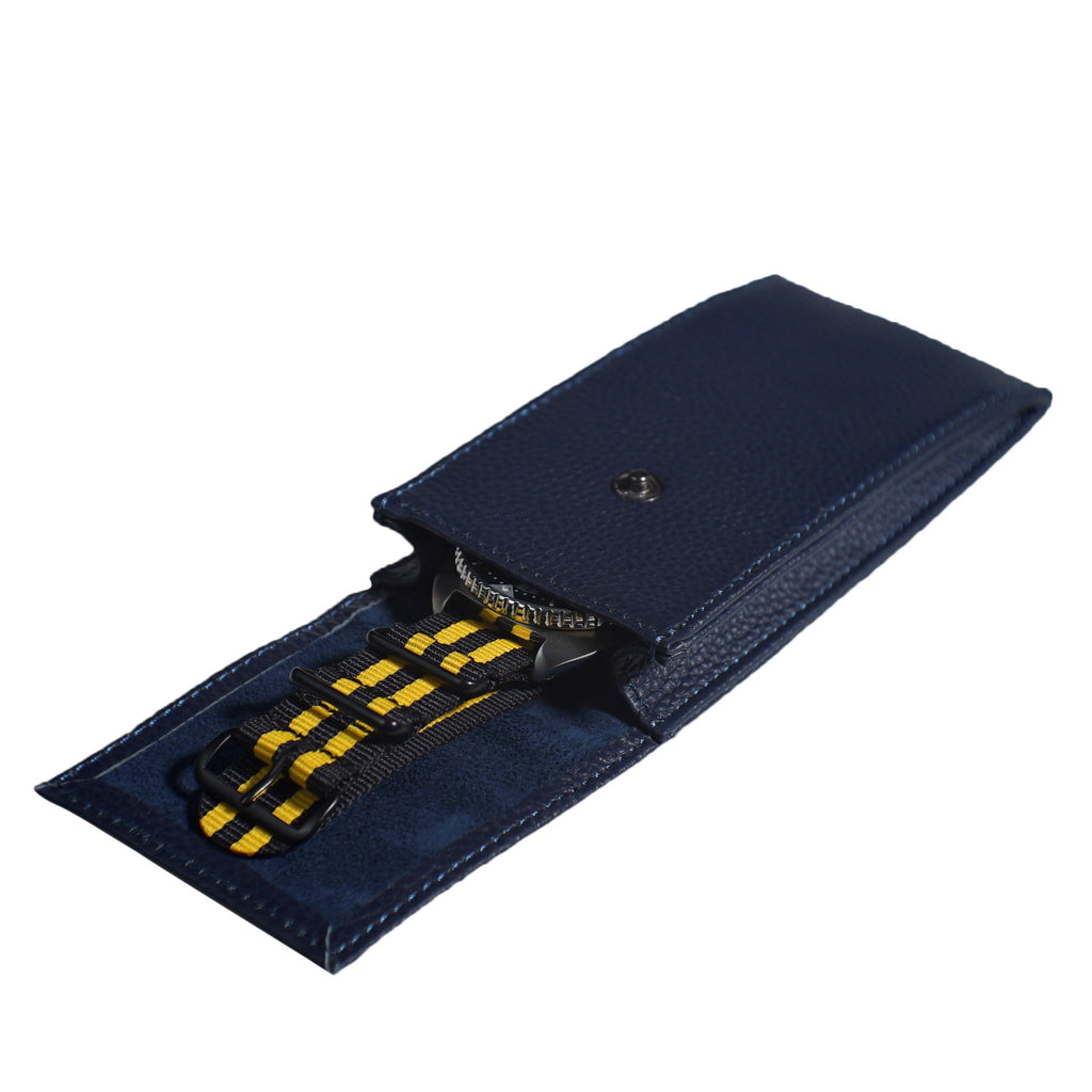 Travel Watch Pouch in Navy - Nomad Watch Works Malaysia