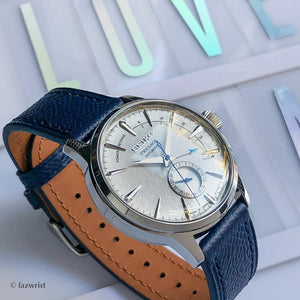 Emery Dress Epsom Leather Strap in Navy (21mm) - Nomad Watch Works Malaysia
