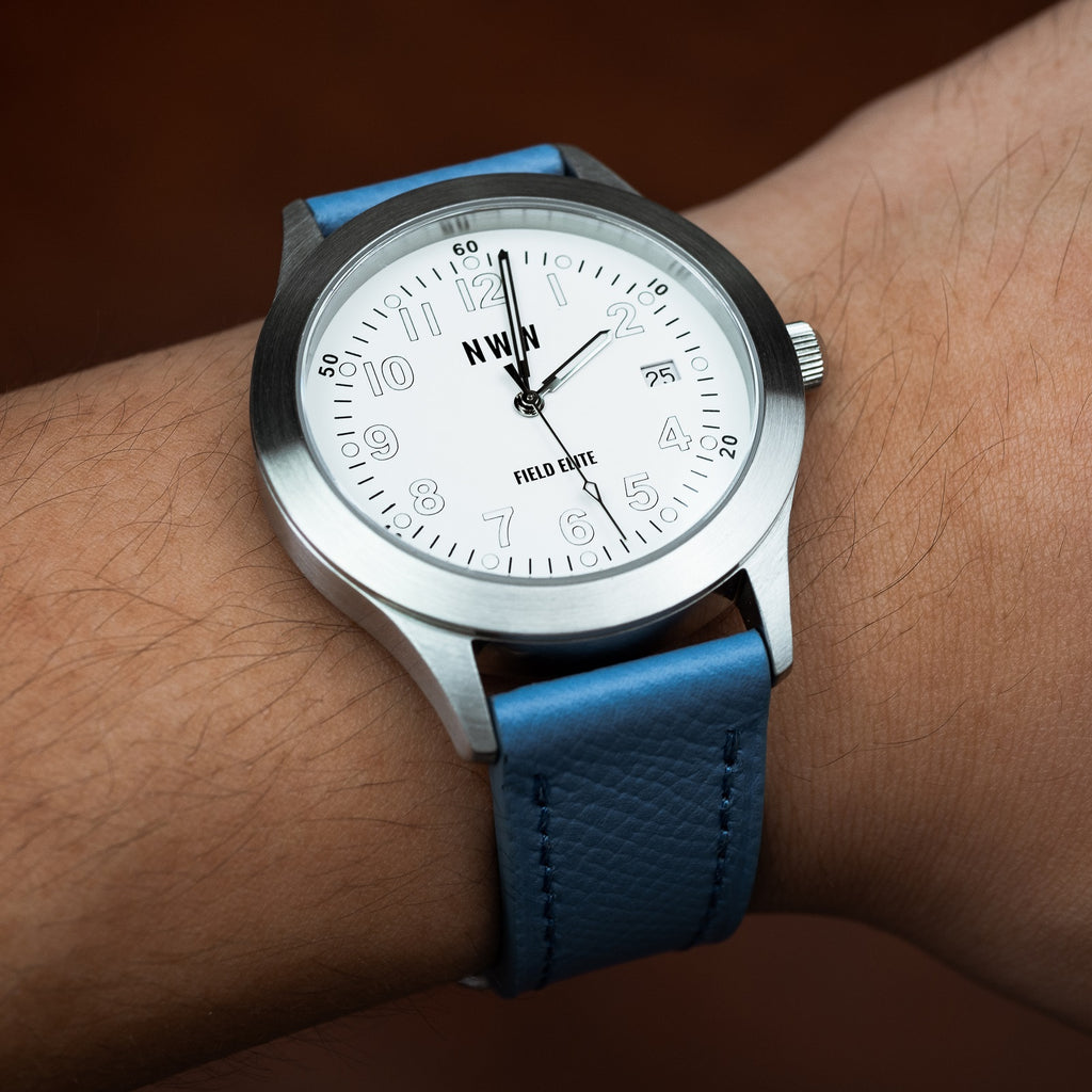 Emery Dress Epsom Leather Strap in Blue (22mm) - Nomad Watch Works Malaysia
