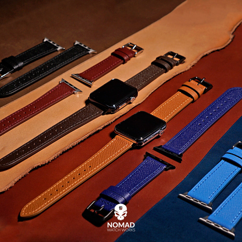 Emery Dress Epsom Leather Strap in Blue (38 & 40mm) - Nomad Watch Works Malaysia