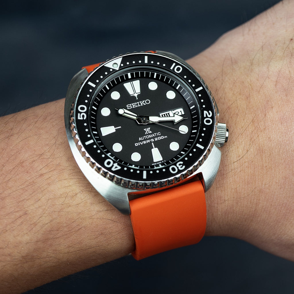 FKM Rubber Strap in Orange (22mm) - Nomad Watch Works Malaysia