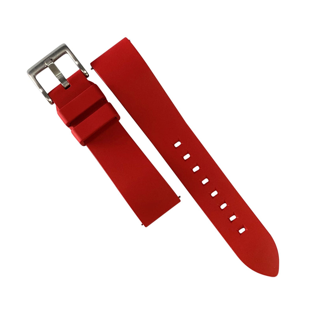 FKM Rubber Strap in Red (20mm) - Nomad Watch Works Malaysia