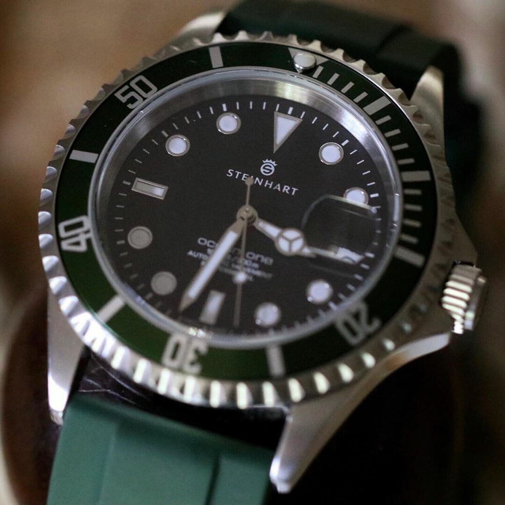 Flex Rubber Strap in Green (22mm) - Nomad Watch Works Malaysia