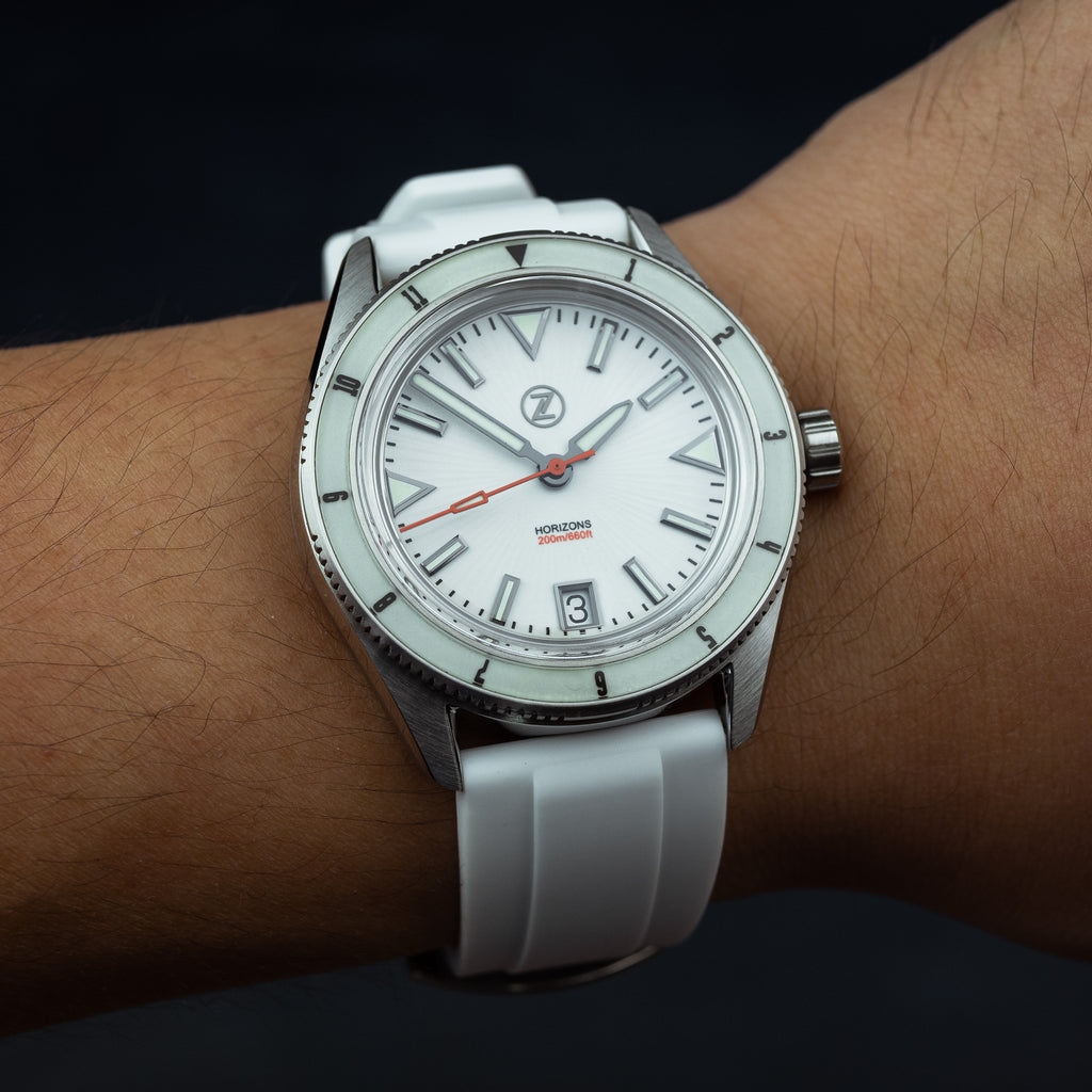 Flex Rubber Strap in White (22mm) - Nomad Watch Works Malaysia