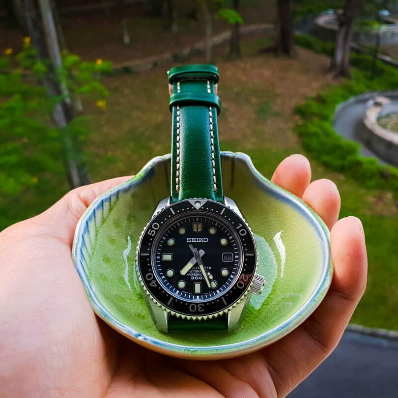 Quick Release Classic Leather Strap in Green (18mm) - Nomad Watch Works Malaysia