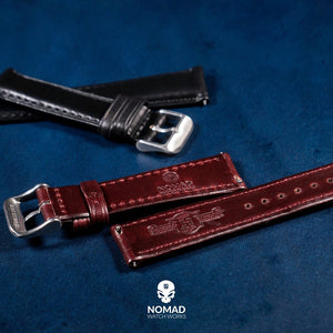 N2W Classic Horween Leather Strap in Dublin Navy (22mm) - Nomad Watch Works Malaysia