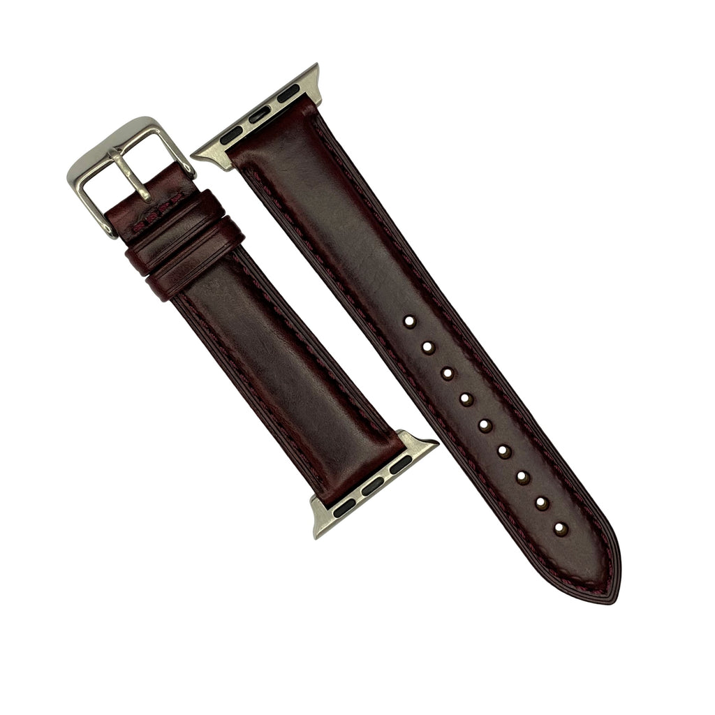 N2W Classic Horween Leather Strap in Chromexcel® Burgundy (38 & 40mm) - Nomad Watch Works Malaysia