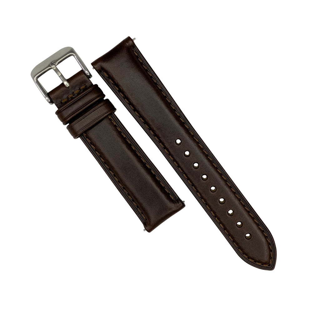 N2W Classic Horween Leather Strap in Chromexcel® Brown (20mm) - Nomad Watch Works Malaysia