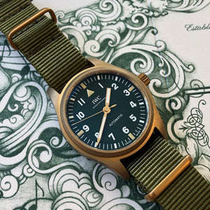 Premium Nato Strap in Olive with Bronze Buckle (22mm) - Nomad Watch Works Malaysia