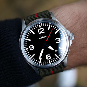 Marine Nationale Strap in Olive Red with Silver Buckle (22mm) - Nomad Watch Works Malaysia