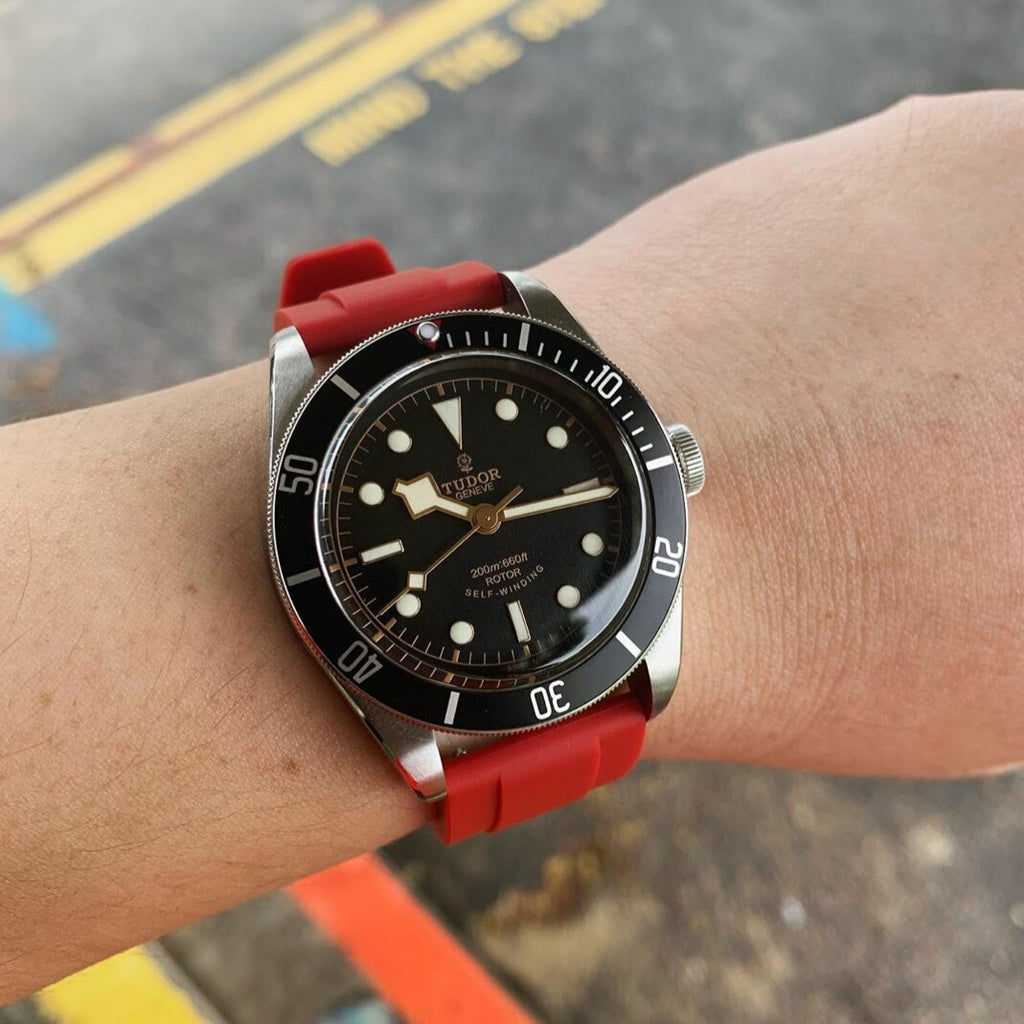Flex Rubber Strap in Red (20mm) - Nomad Watch Works Malaysia