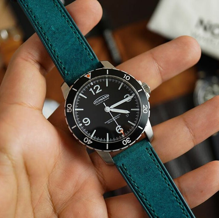 Emery Signature Pueblo Leather Strap in Ortensia (22mm) - Nomad Watch Works Malaysia