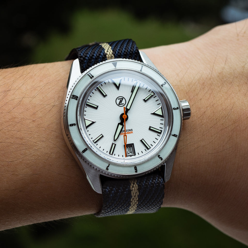 Lux Single Pass Strap in Navy Khaki with Silver Buckle (20mm) - Nomad Watch Works Malaysia