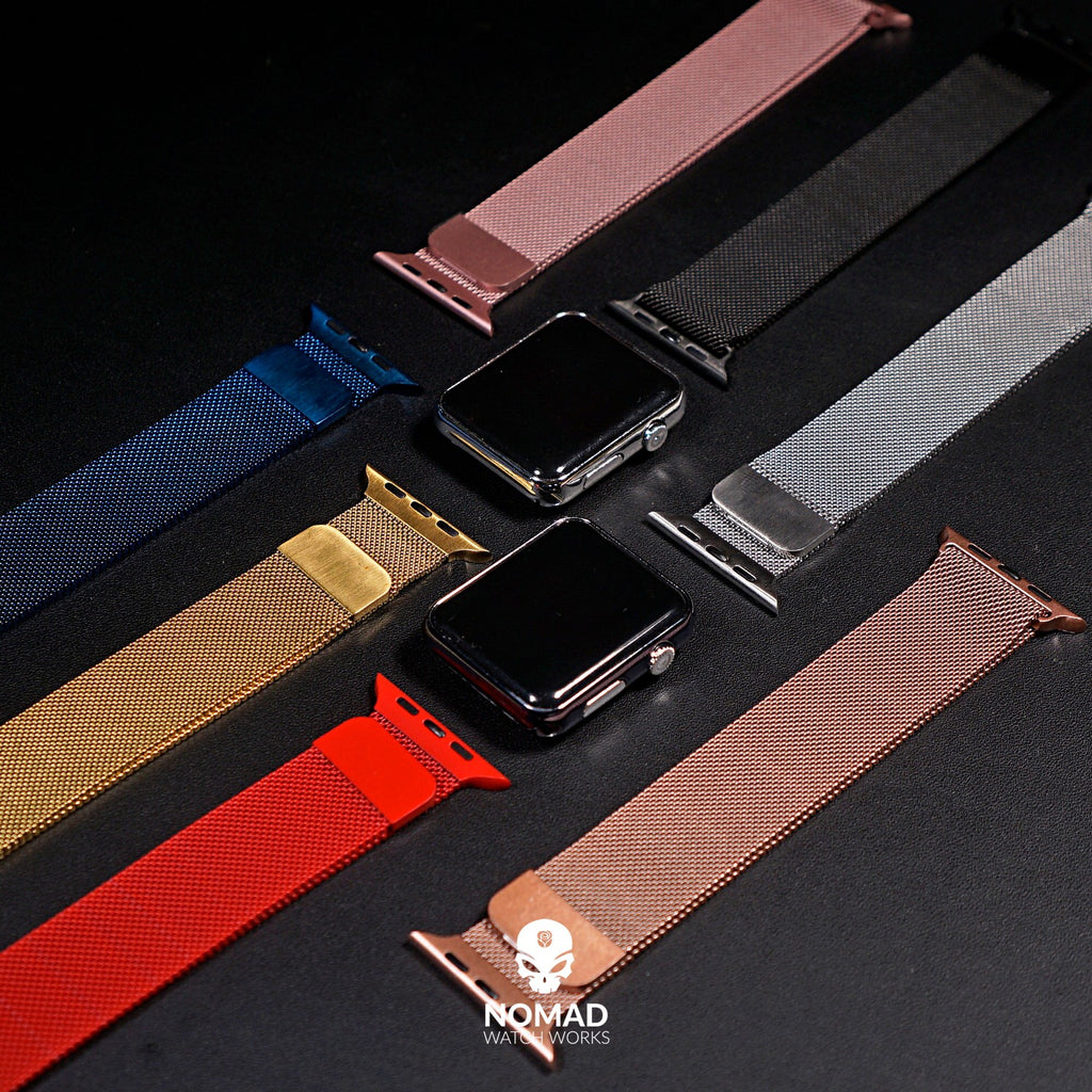 Apple Watch Milanese Mesh Strap in Pink (42 & 44mm) - Nomad Watch Works Malaysia