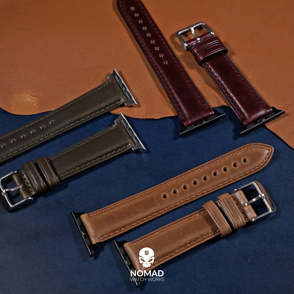 N2W Classic Horween Leather Strap in Chromexcel® Brown (42 & 44mm) - Nomad Watch Works Malaysia
