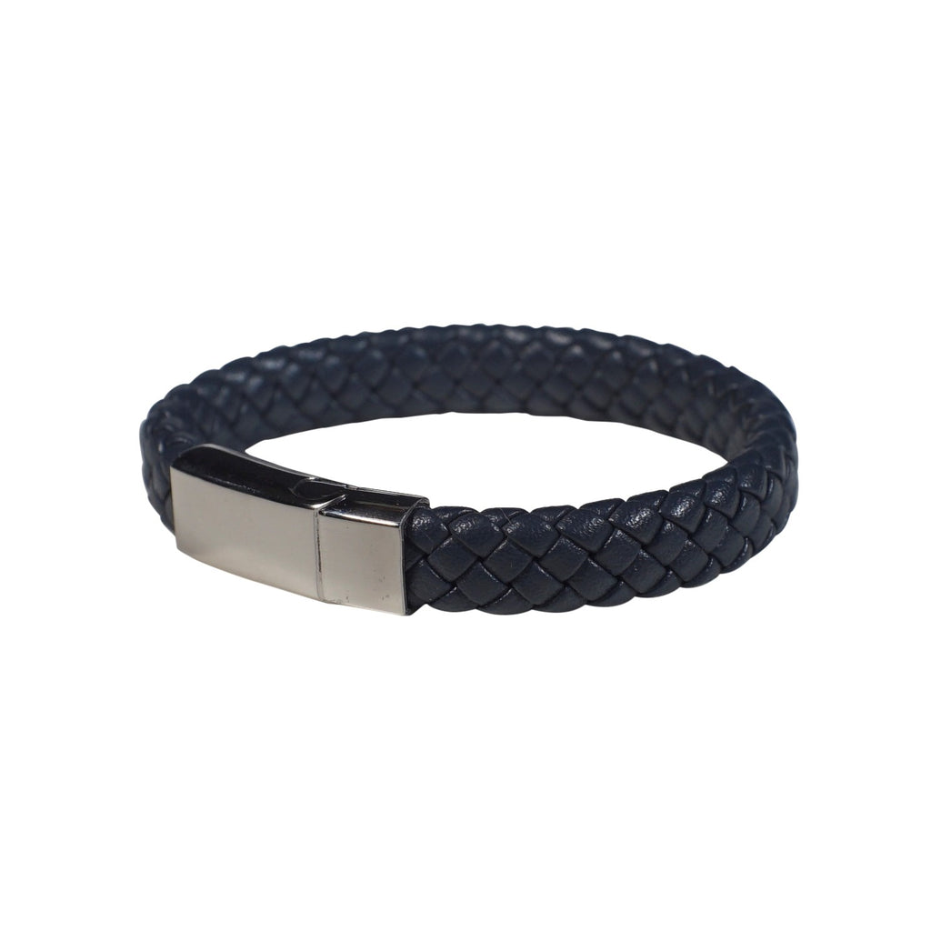 Chester Leather Bracelet in Navy (Size M) - Nomad Watch Works Malaysia
