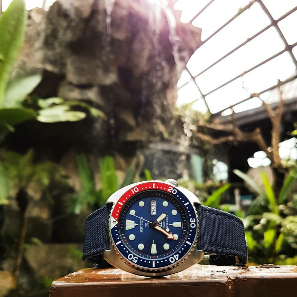 Canvas Watch Strap in Navy (18mm) - Nomad Watch Works Malaysia