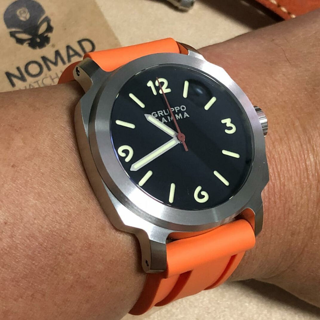 V3 Silicone Strap in Orange (24mm) - Nomad Watch Works Malaysia