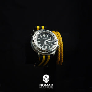 Oxford Leather Bracelet in Yellow (Size M) - Nomad Watch Works Malaysia