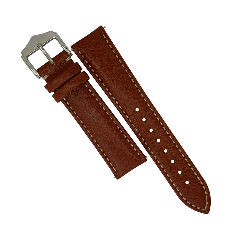 Quick Release Classic Leather Strap in Tan (20mm) - Nomad Watch Works Malaysia