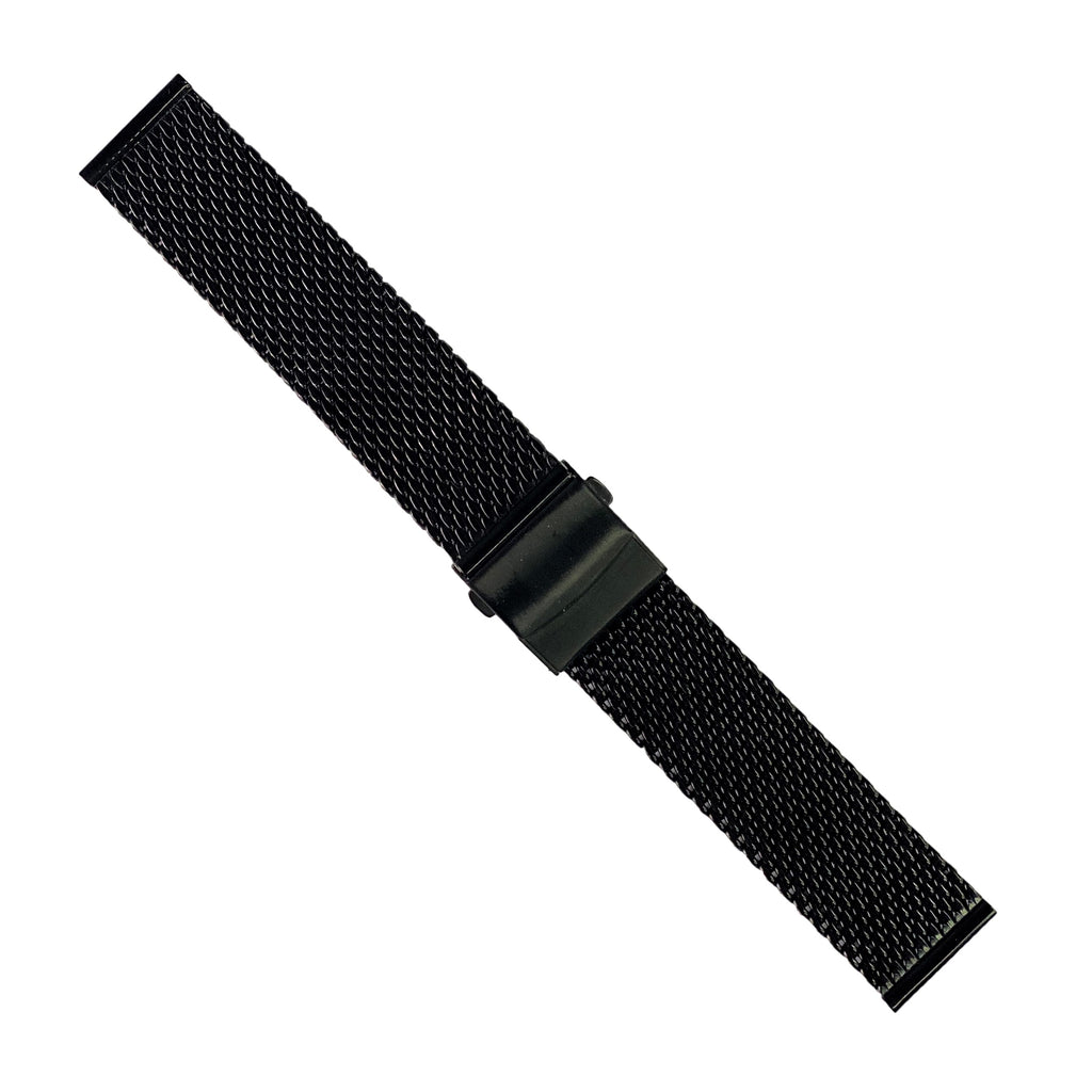 Premium Milanese Mesh Watch Strap in Black (20mm) - Nomad Watch Works Malaysia