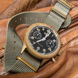 Premium Nato Strap in Grey with Bronze Buckle (22mm) - Nomad Watch Works Malaysia