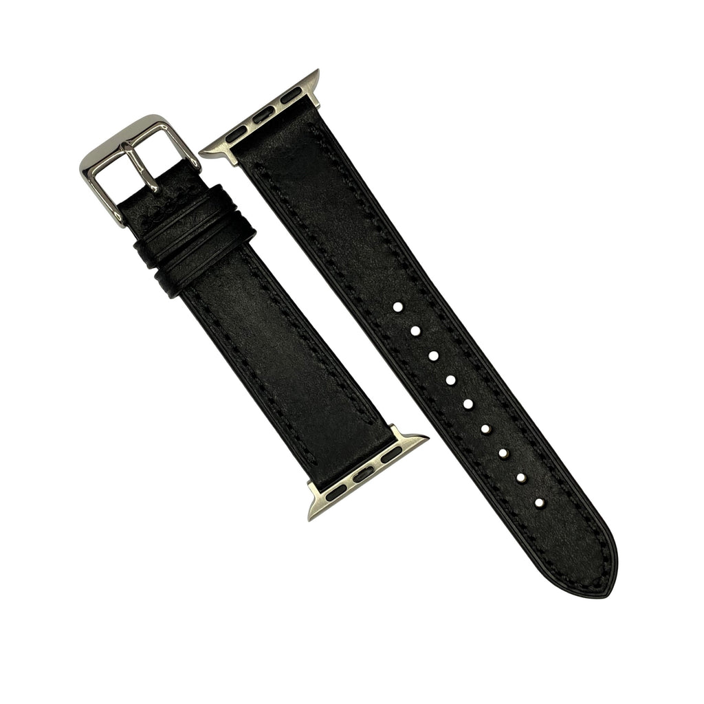 Emery Signature Pueblo Leather Strap in Black (42 & 44mm) - Nomad Watch Works Malaysia