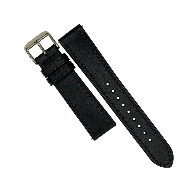 Emery Signature Pueblo Leather Strap in Navy (18mm)