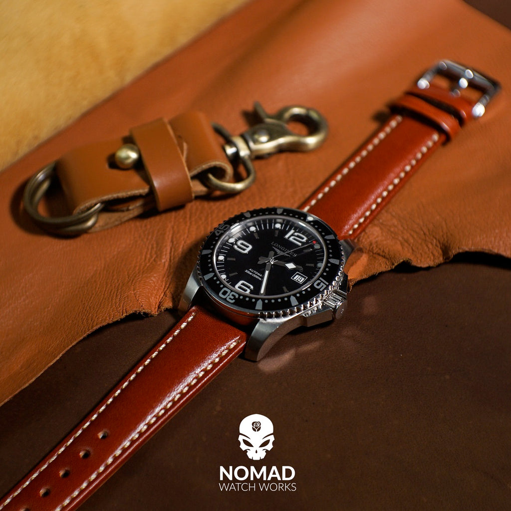 Quick Release Classic Leather Strap in Tan (22mm) - Nomad Watch Works Malaysia