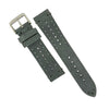 Premium Rally Suede Leather Watch Strap in Grey (22mm) - Nomad Watch Works MY