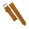 Premium Rally Suede Leather Watch Strap in Tan (22mm) - Nomad Watch Works Malaysia