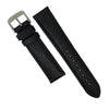 Premium Saffiano Leather Strap in Black (22mm) - Nomad Watch Works Malaysia
