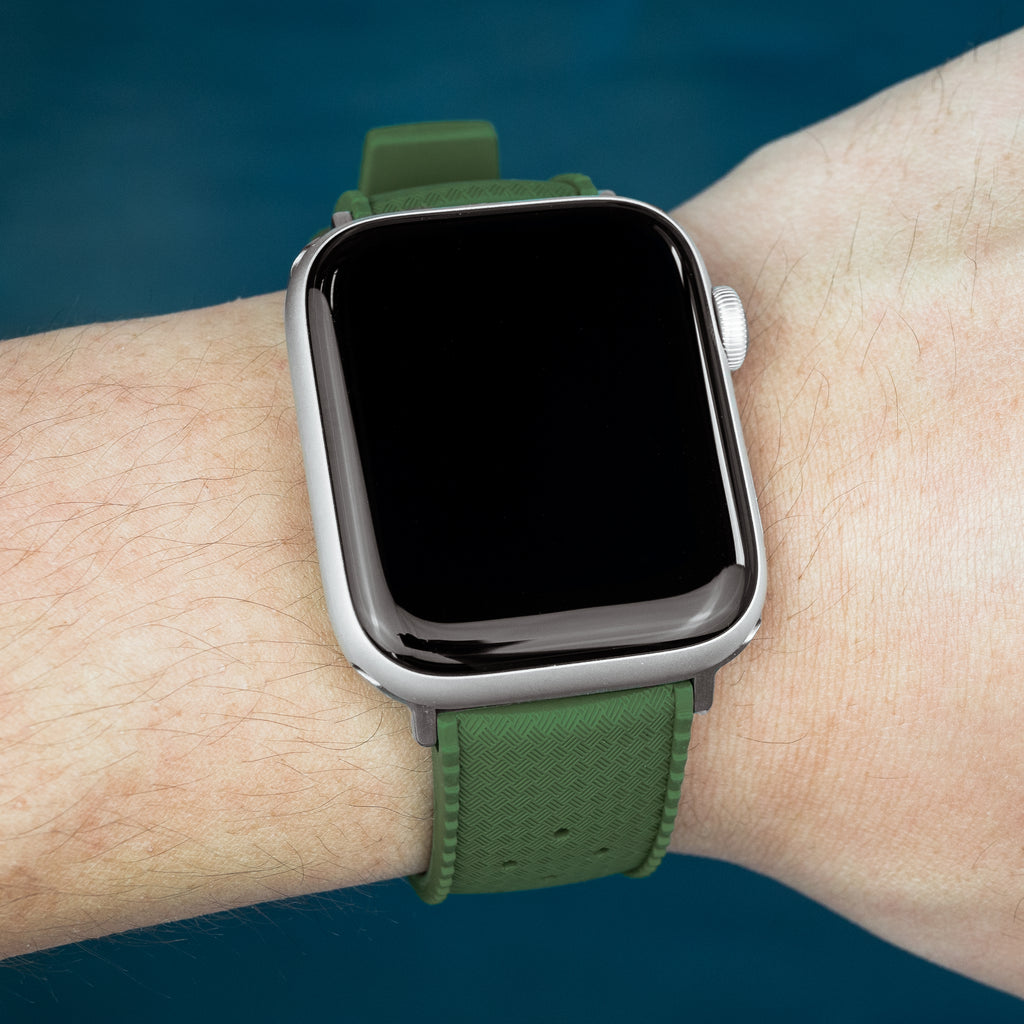 Apple Watch Tropic FKM Rubber Strap in Green (42 & 44mm) - Nomad Watch Works MY