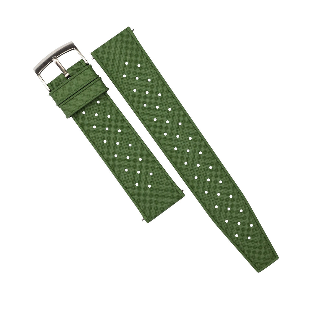 Tropic FKM Rubber Strap in Green (22mm) - Nomad Watch Works Malaysia