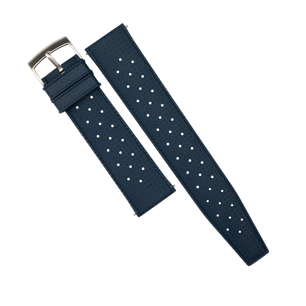 Tropic FKM Rubber Strap in Navy (20mm) - Nomad Watch Works Malaysia