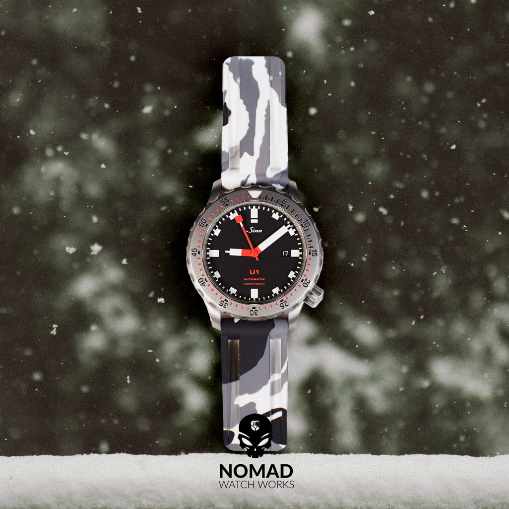 V3 Silicone Strap in White Camo (22mm) - Nomad Watch Works Malaysia