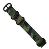 Heavy Duty Zulu Strap in Green Camo with PVD Black Buckle (20mm) - Nomad Watch Works Malaysia