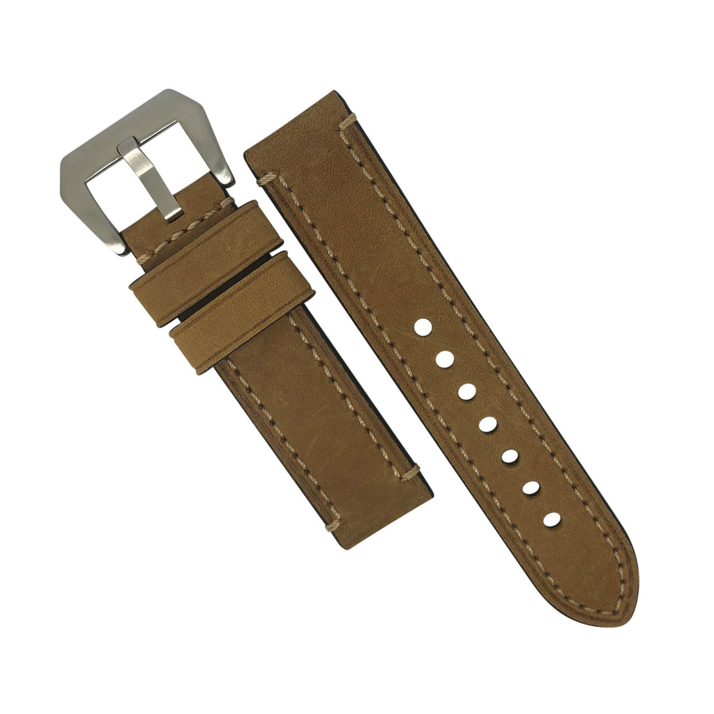 M1 Vintage Leather Watch Strap in Tan (24mm) - Nomad Watch Works Malaysia